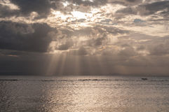 Solnedgång i Sainte Marie Royaltyfria Bilder