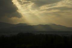 Solnedgång i Salzburg Fotografering för Bildbyråer