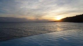 Solnedgång i Samana, Dominikanska republiken. Royaltyfri Bild