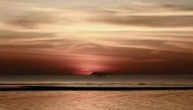 Solnedgång i Samui Royaltyfri Foto