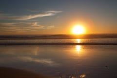 Solnedgång i San Diego CA Arkivbild
