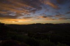 Solnedgång i Santa Rosa Fotografering för Bildbyråer