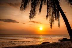 Solnedgång i Sengiggi, Lombok Royaltyfri Fotografi