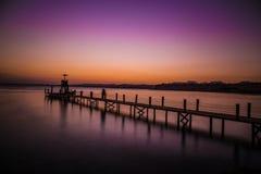 Solnedgång i sharm Fotografering för Bildbyråer