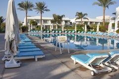 Solnedgång i Sharm el Sheikhsemesterort royaltyfri bild