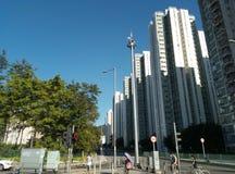 Solnedgång i shatinen CityOne Hong Kong Royaltyfria Foton
