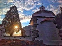 solnedgång i Sierra Morena arkivfoton