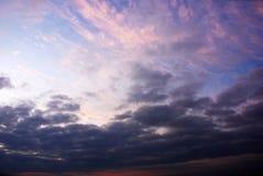 Solnedgång i skyen Royaltyfria Foton