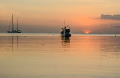 Solnedgång i skymning Royaltyfria Bilder