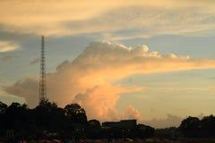 Solnedgång i Sorong royaltyfri fotografi
