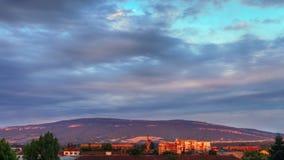 Solnedgång i staden Royaltyfri Foto