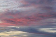 Solnedgång i Stilla havet beautiful clouds Arkivfoton