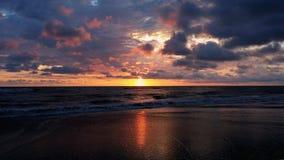 Solnedgång i styrmanbazar Fotografering för Bildbyråer