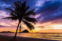 Solnedgång i Sumbawa Arkivfoton