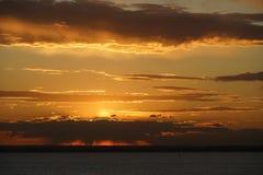 Solnedgång i Sydney Arkivbild