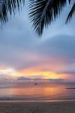 Solnedgång i Thailand Arkivbilder