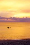 Solnedgång i Thailand Royaltyfri Foto
