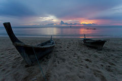 Solnedgång i Thailand Arkivbild