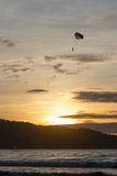 Solnedgång i Thailand Fotografering för Bildbyråer