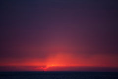 Solnedgång i Trapani, Sicilien royaltyfria foton