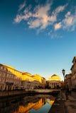 Solnedgång i Trieste Arkivbild