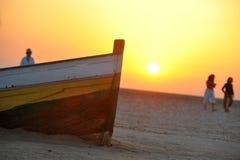 Solnedgång i Tunisien Arkivbilder