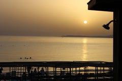 Solnedgång i Turkiet Arkivbild
