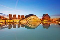 Solnedgång i Valencia Arkivfoto