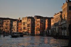 Solnedgång i Venedig Arkivfoton