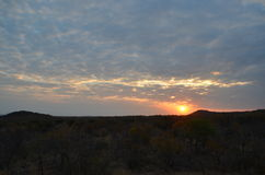 Solnedgång i Warmbaths royaltyfria foton