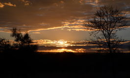 Solnedgång i Warmbaths Arkivfoton