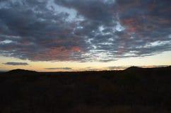 Solnedgång i Warmbaths royaltyfri foto