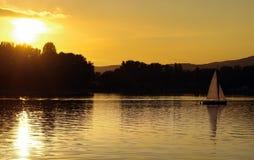 Solnedgång i Wien Royaltyfri Foto