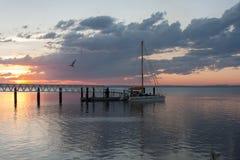 Solnedgång i Wyndham, västra Australien Fotografering för Bildbyråer