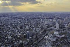 Solnedgång i Yokohama Royaltyfri Bild