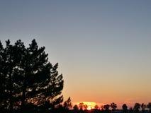 Solnedgång Italien Arkivfoton