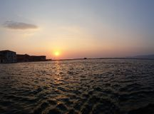 Solnedgång Izmir Arkivbilder