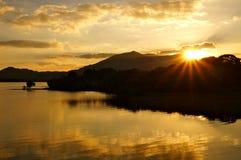Solnedgång Killarney Irland royaltyfri bild