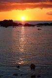 Solnedgång Kuba Royaltyfria Foton