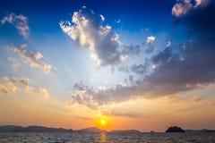 Solnedgång Langkawi Arkivbilder