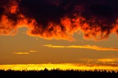 Solnedgång Maine royaltyfri bild