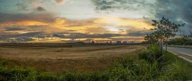 Solnedgång Malaysia Arkivfoton