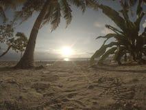 Solnedgång Maluku Arkivbild