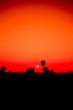 Solnedgång med himmel av Thailand Royaltyfria Foton
