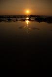 Solnedgång med stort dynamiskt område Fotografering för Bildbyråer