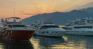 Solnedgång Montenegro Royaltyfri Bild