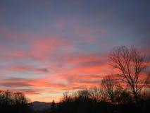 Solnedgång nära Jelah Fotografering för Bildbyråer
