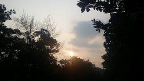 Solnedgång Nanjing arkivbild