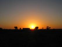 Solnedgång-naturligt Royaltyfri Bild