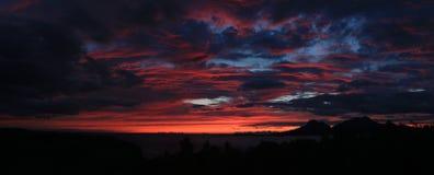 Solnedgång Norge Royaltyfri Fotografi